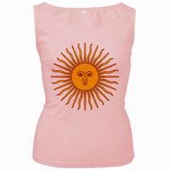 Argentina Sun of May  Women s Pink Tank Top