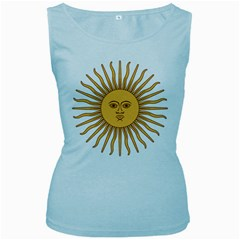 Argentina Sun of May  Women s Baby Blue Tank Top