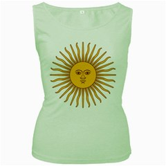 Argentina Sun of May  Women s Green Tank Top