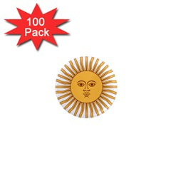 Argentina Sun of May  1  Mini Magnets (100 pack)
