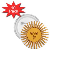Argentina Sun of May  1.75  Buttons (10 pack)