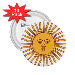 Argentina Sun of May  2.25  Buttons (10 pack)