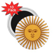 Argentina Sun of May  2.25  Magnets (10 pack)
