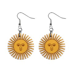 Argentina Sun of May  Mini Button Earrings