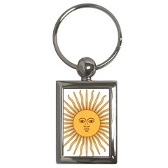 Argentina Sun of May  Key Chains (Rectangle)
