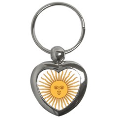 Argentina Sun of May  Key Chains (Heart)