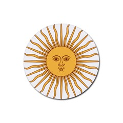 Argentina Sun of May  Rubber Round Coaster (4 pack)