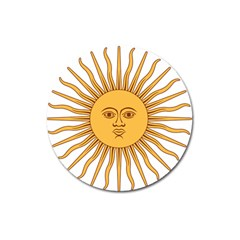 Argentina Sun of May  Magnet 3  (Round)