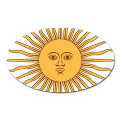 Argentina Sun of May  Oval Magnet