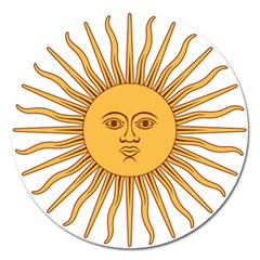 Argentina Sun of May  Magnet 5  (Round)
