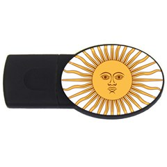 Argentina Sun of May  USB Flash Drive Oval (1 GB)