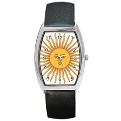 Argentina Sun of May  Barrel Style Metal Watch
