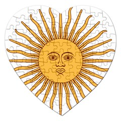 Argentina Sun of May  Jigsaw Puzzle (Heart)