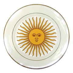 Argentina Sun of May  Porcelain Plates
