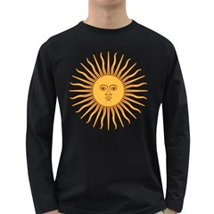 Argentina Sun of May  Long Sleeve Dark T-Shirts