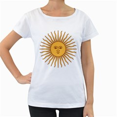 Argentina Sun Of May  Women s Loose Fit T Shirt (white)