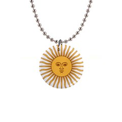 Argentina Sun of May  Button Necklaces