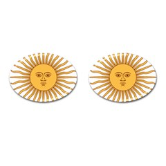 Argentina Sun of May  Cufflinks (Oval)