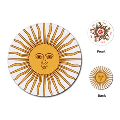 Argentina Sun of May  Playing Cards (Round)