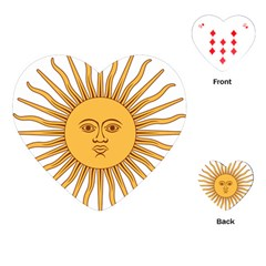 Argentina Sun of May  Playing Cards (Heart)