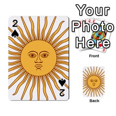 Argentina Sun of May  Playing Cards 54 Designs