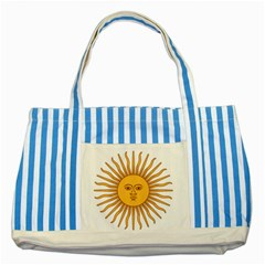 Argentina Sun of May  Striped Blue Tote Bag