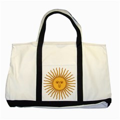 Argentina Sun of May  Two Tone Tote Bag