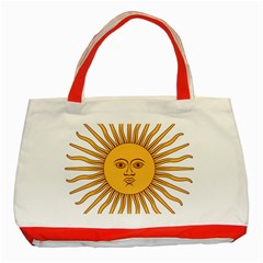 Argentina Sun of May  Classic Tote Bag (Red)