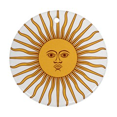 Argentina Sun of May  Round Ornament (Two Sides)