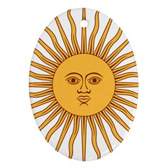 Argentina Sun of May  Oval Ornament (Two Sides)