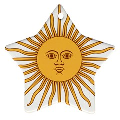 Argentina Sun of May  Star Ornament (Two Sides)