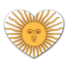 Argentina Sun of May  Heart Mousepads