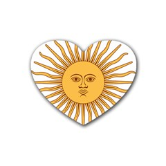Argentina Sun of May  Heart Coaster (4 pack)
