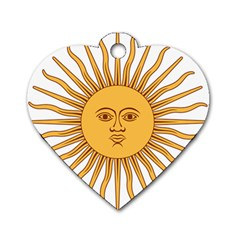 Argentina Sun Of May  Dog Tag Heart (one Side)