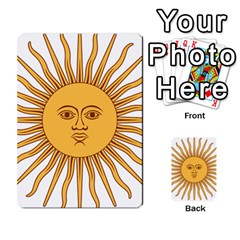 Argentina Sun of May  Multi-purpose Cards (Rectangle)