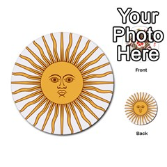 Argentina Sun of May  Multi-purpose Cards (Round)