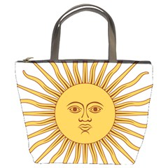 Argentina Sun of May  Bucket Bags
