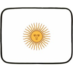 Argentina Sun of May  Double Sided Fleece Blanket (Mini)