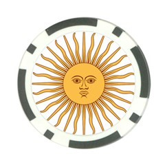 Argentina Sun of May  Poker Chip Card Guards (10 pack)