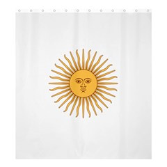 Argentina Sun of May  Shower Curtain 66  x 72  (Large)