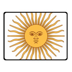 Argentina Sun of May  Fleece Blanket (Small)