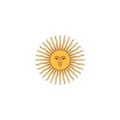 Argentina Sun of May  Shower Curtain 48  x 72  (Small)