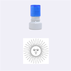 Argentina Sun of May  Rubber Round Stamps (Small)