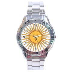 Argentina Sun of May  Stainless Steel Analogue Watch