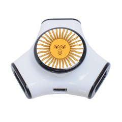 Argentina Sun of May  3-Port USB Hub