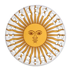 Argentina Sun of May  Round Filigree Ornament (2Side)