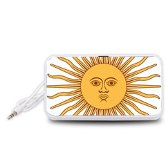Argentina Sun of May  Portable Speaker (White)