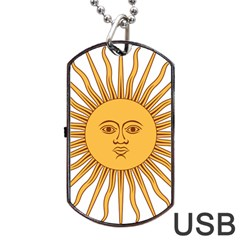 Argentina Sun of May  Dog Tag USB Flash (One Side)