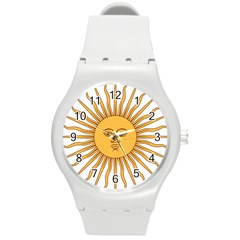 Argentina Sun of May  Round Plastic Sport Watch (M)