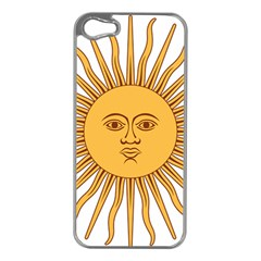 Argentina Sun of May  Apple iPhone 5 Case (Silver)